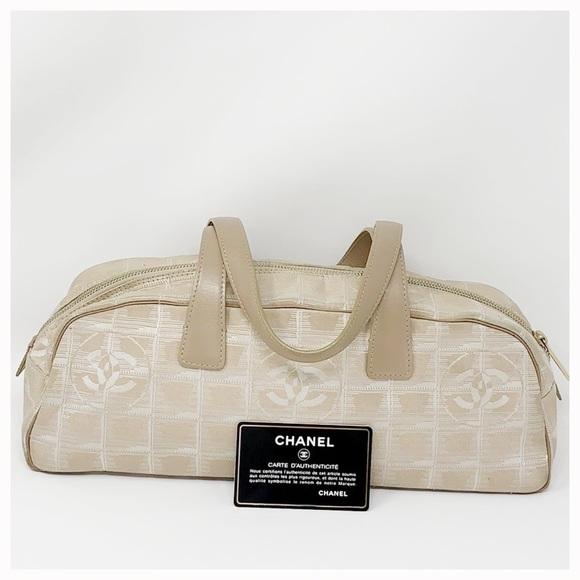 af791fa2606b CHANEL Bags | Authentic Slik Logo Canvas Shoulder Bag | Poshmark